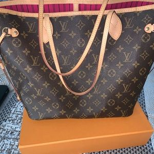 Louis vuitton neverfull mm monogram pivione